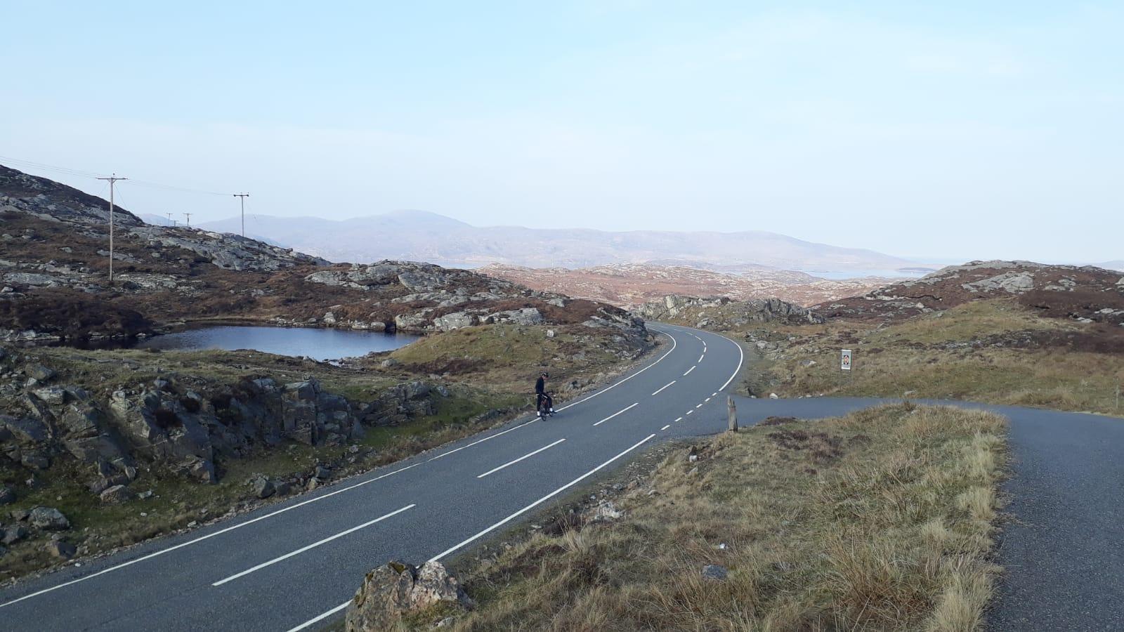 Radfahren Schottische Highlands Rennrad auf Isle of Harris