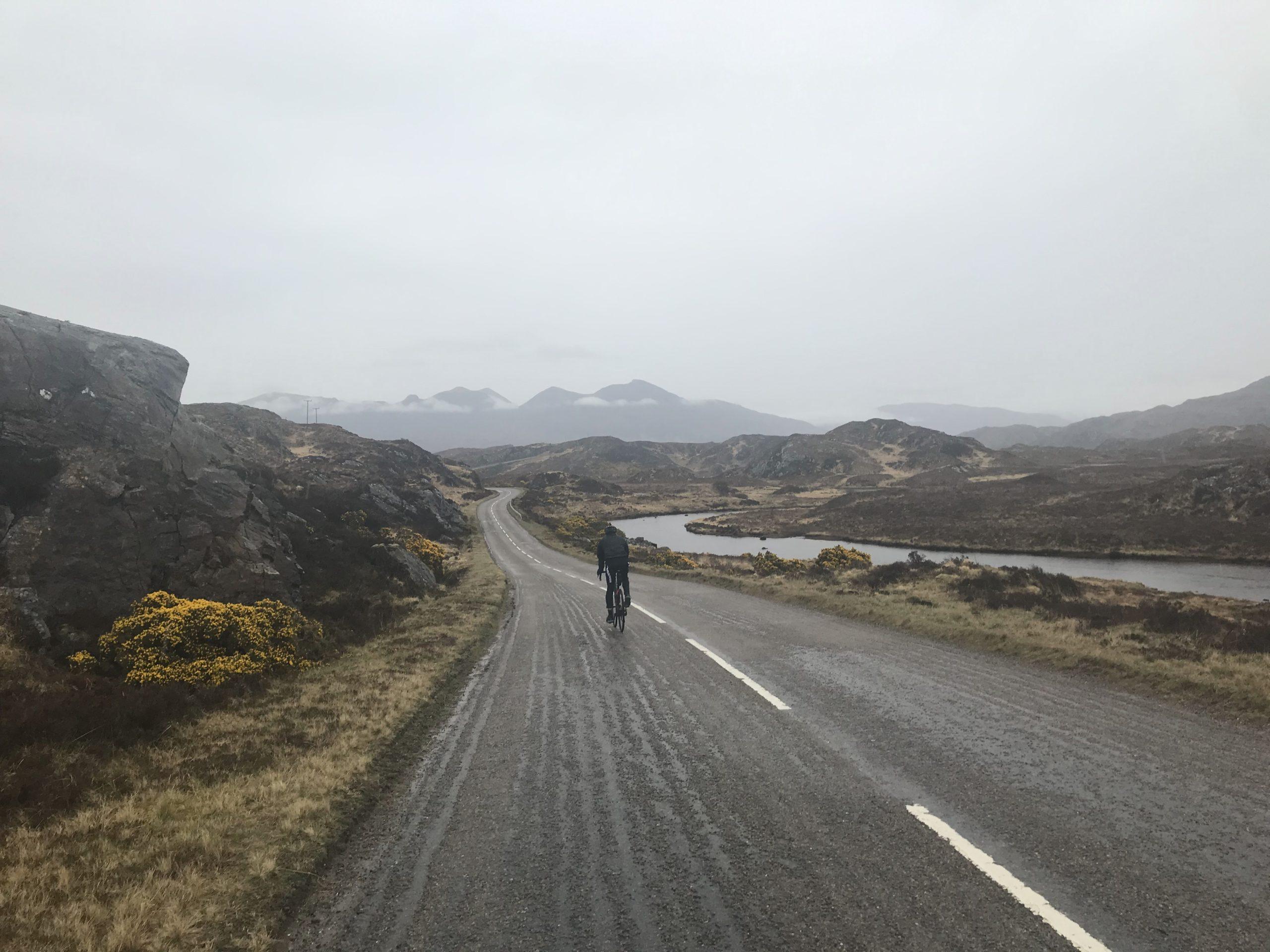 Radfahren Schottische Highlands mit Rennrad