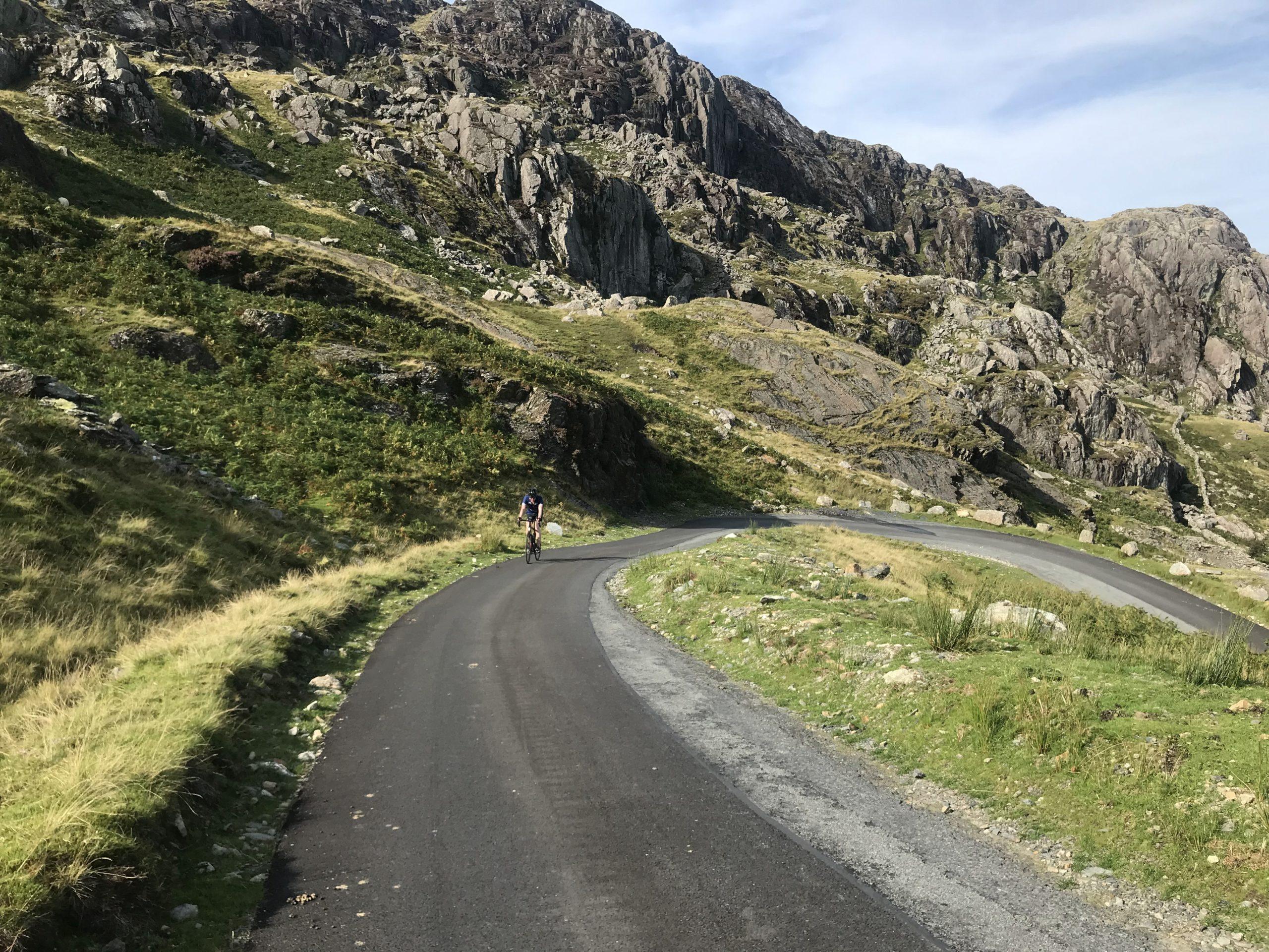 Radfahren mit Gravel Bike in Snowdonia Wales