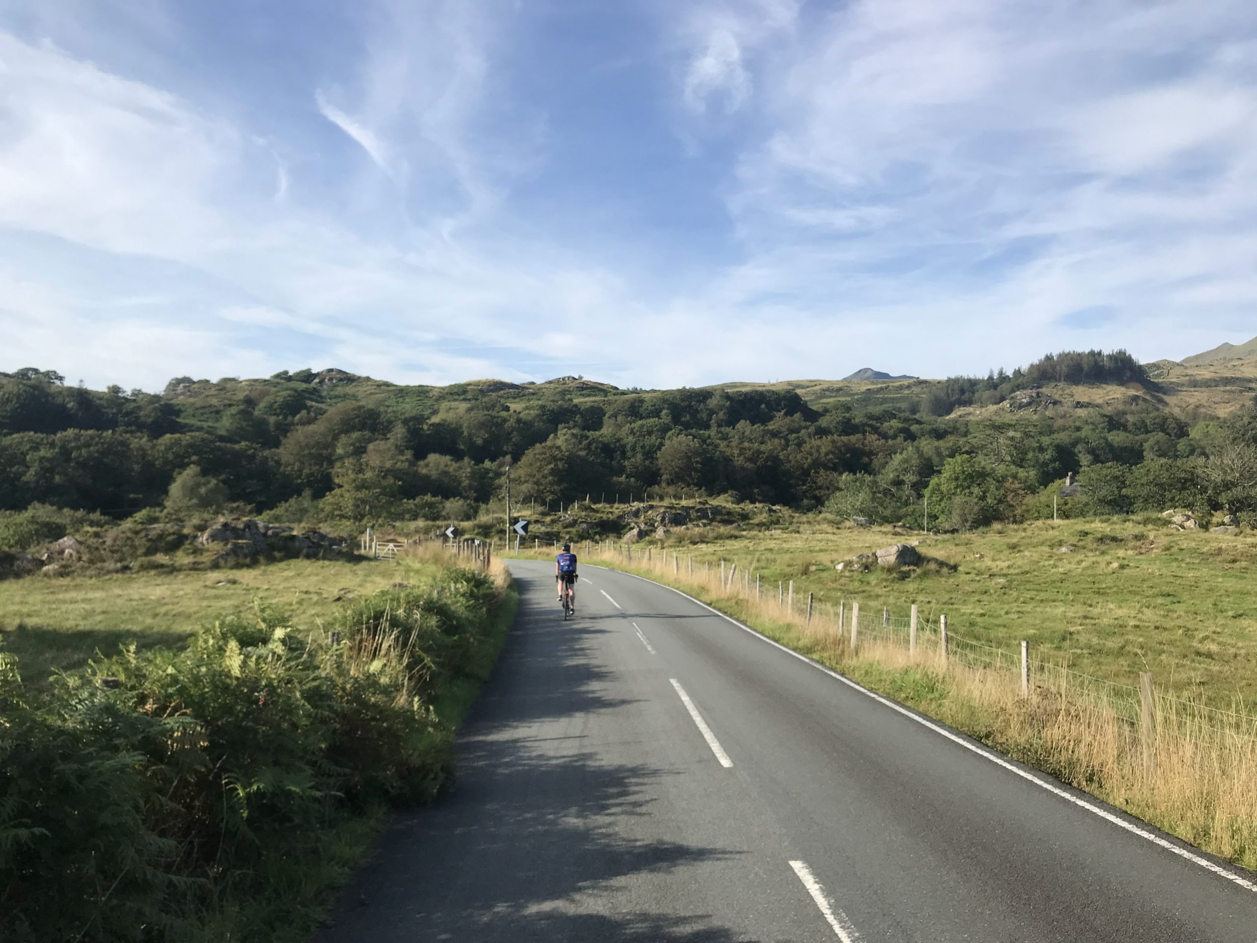 Radfahren in Wales Snowdonia mit Rennrad