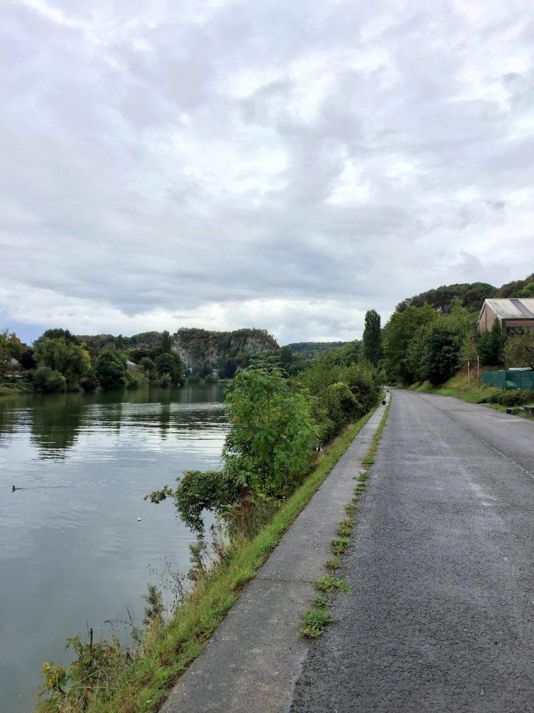 Radfahren auf Eurovelo Radweg Namur