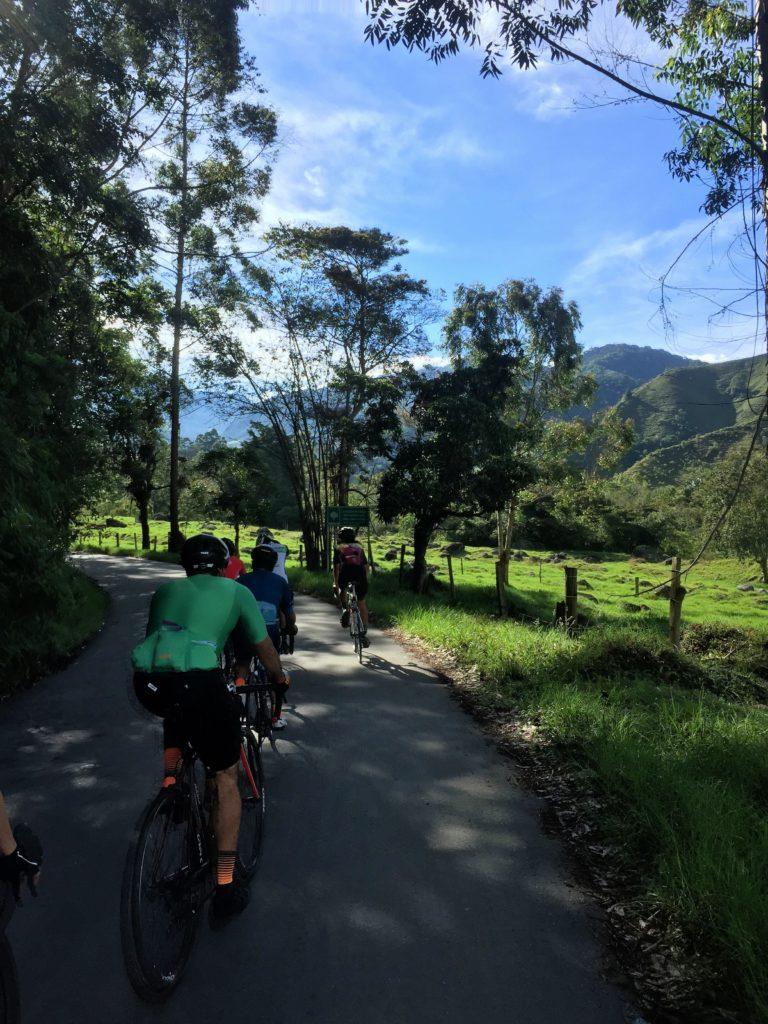 Radfahren im Valle de Cocora, Kolumbien