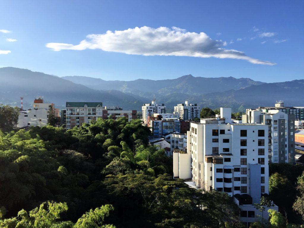 Ausblick auf La Linea Pass im kolumbianischen Eje Cafetero