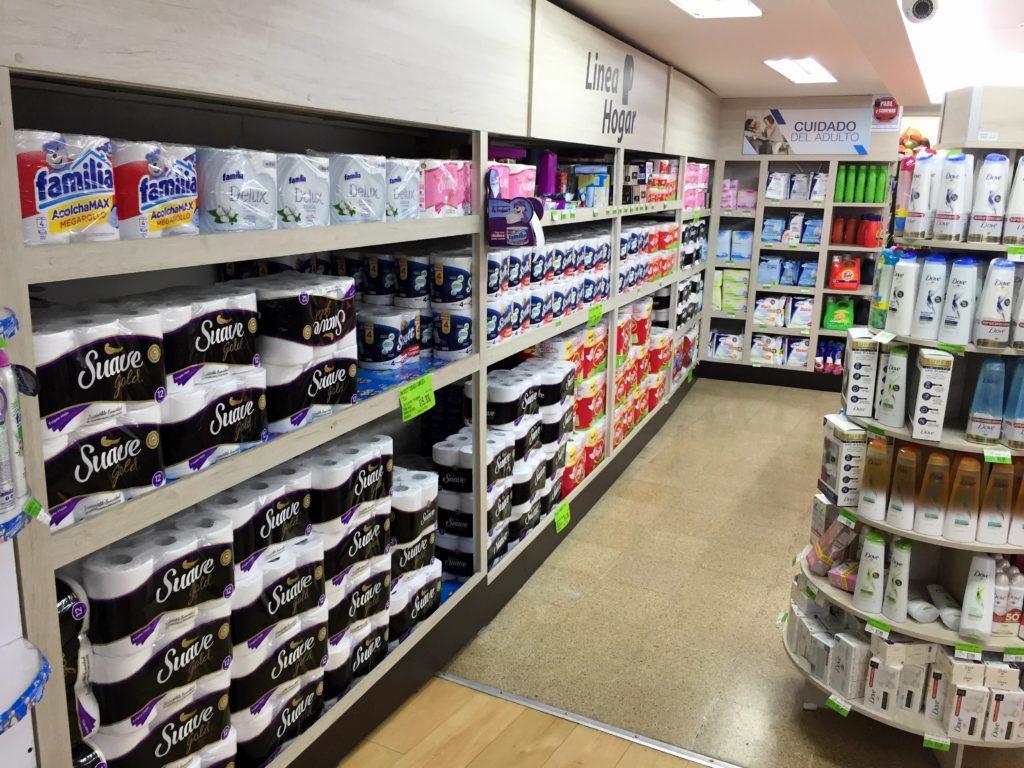 Toilettenpapier ausreichend vorhanden in Kolumbien