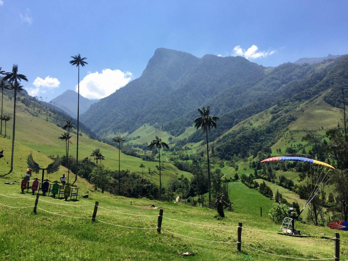 Valle de Cocora in der Zona Cafetera in Kolumbien