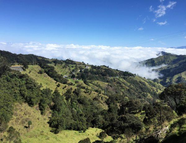 Alto de la Linea - Ausblick vom Rennrad Pass in Kolumbien
