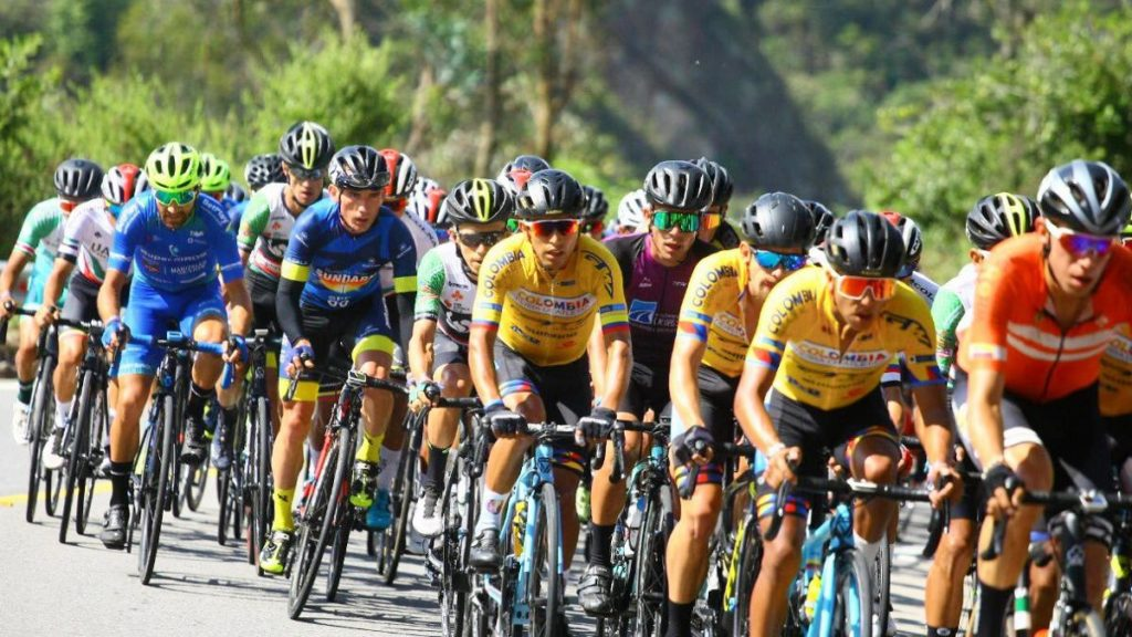 Vuelta a Colombia bei Anstieg La Linea